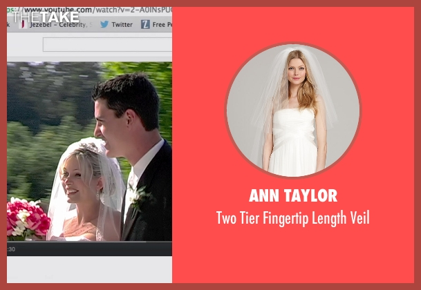 Ann Taylor white veil from Unfriended seen with Unknown Actor (Unknown Character)