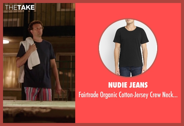 Nudie Jeans black t-shirt from Vacation seen with Unknown Actor (Unknown Character)