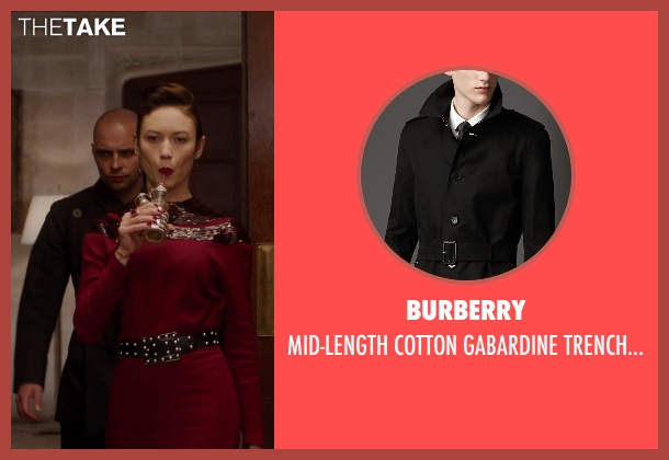 Burberry black coat from Vampire Academy seen with Unknown Actor (Unknown Character)