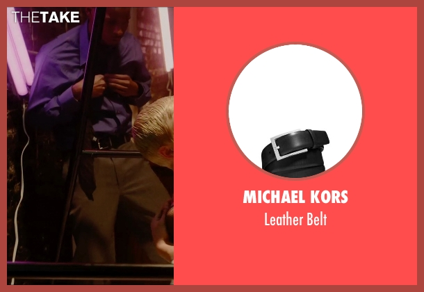 Michael Kors black belt from Vice seen with Unknown Actor (Unknown Character)