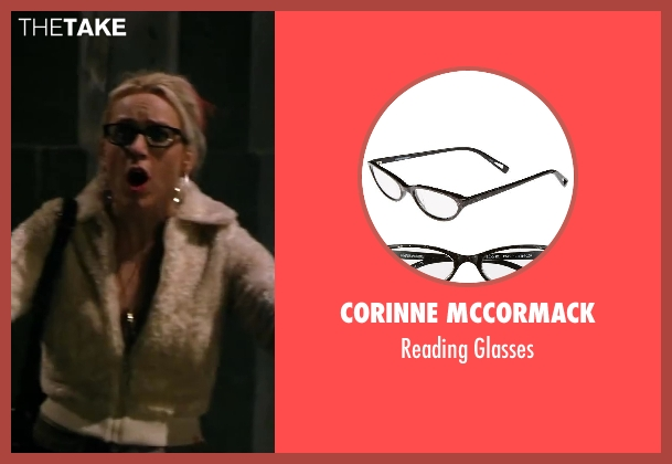 Corinne McCormack black glasses from Walk of Shame seen with Unknown Actor (Unknown Character)