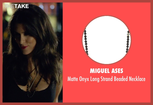 Miguel Ases black necklace from We Are Your Friends seen with Unknown Actor (Unknown Character)