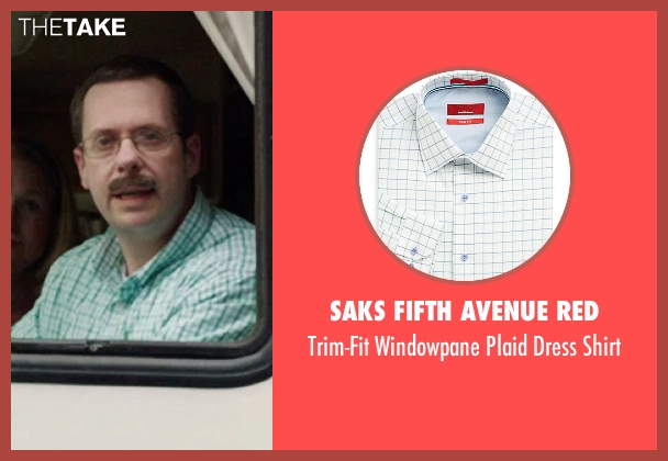 Saks Fifth Avenue RED green shirt from We're the Millers seen with Unknown Actor (Unknown Character)