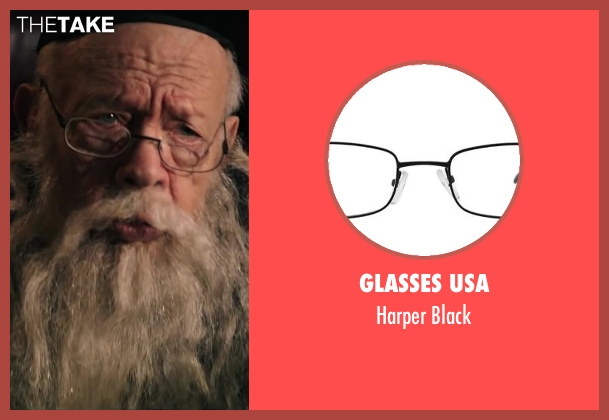 Glasses USA black from Wish I Was Here seen with Unknown Actor (Unknown Character)