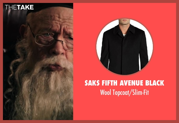 Saks Fifth Avenue BLACK black topcoat/slim-fit from Wish I Was Here seen with Unknown Actor (Unknown Character)
