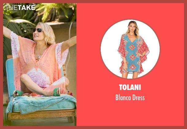 Tolani orange dress from Animal Kingdom seen with Janine 'Smurf' Cody (Ellen Barkin)