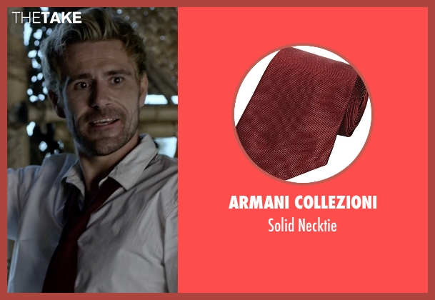 Armani Collezioni red necktie from Arrow seen with Unknown Character (Unknown Actor)