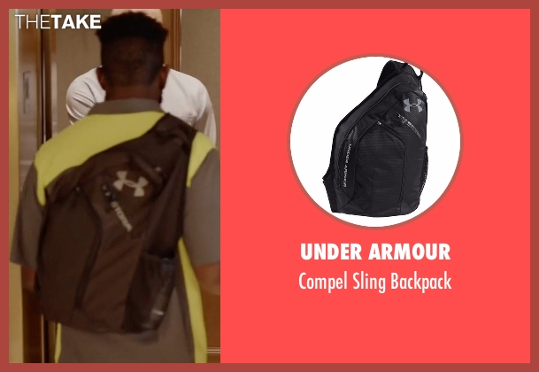 Under Armour black backpack from Ballers seen with Unknown Character (Unknown Actor)
