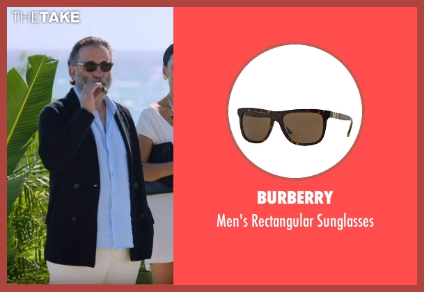 Burberry black sunglasses from Ballers seen with Unknown Character (Andy Garcia)