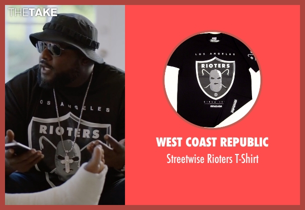 West Coast Republic black t-shirt from Ballers seen with Unknown Character (Unknown Actor)