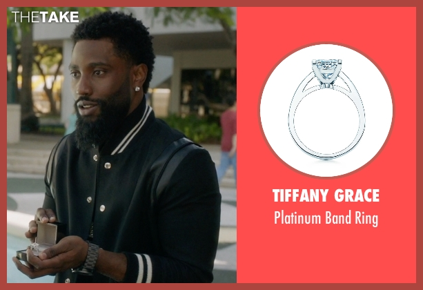Tiffany Grace silver ring from Ballers seen with Unknown Character (John David Washington)