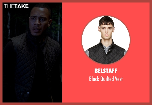 Belstaff black vest from Empire seen with Unknown Character (Unknown Actor)