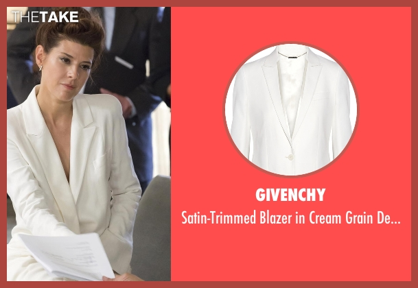 Givenchy white wool from Empire seen with Unknown Character (Marisa Tomei)