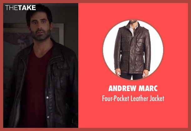 Andrew Marc brown jacket from Imaginary Mary seen with Unknown Character (Stephen Schneider)