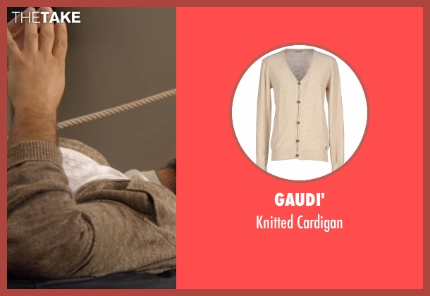 Gaudi' beige cardigan from Lady Dynamite seen with Unknown Character (Jason Mantzoukas)
