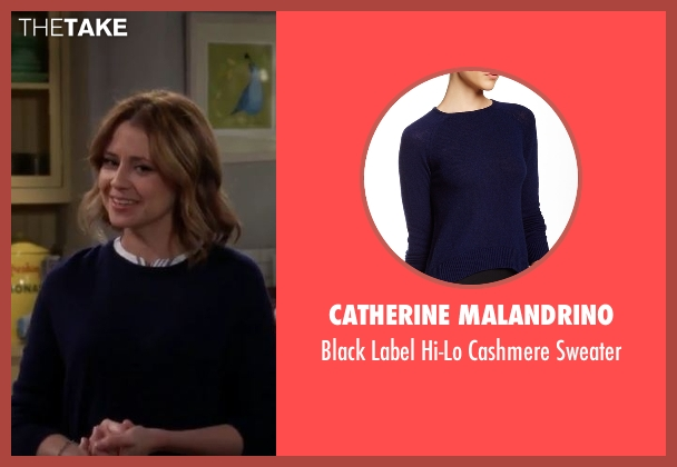 Catherine Malandrino blue sweater from Man With A Plan seen with Unknown Character (Jenna Fischer)