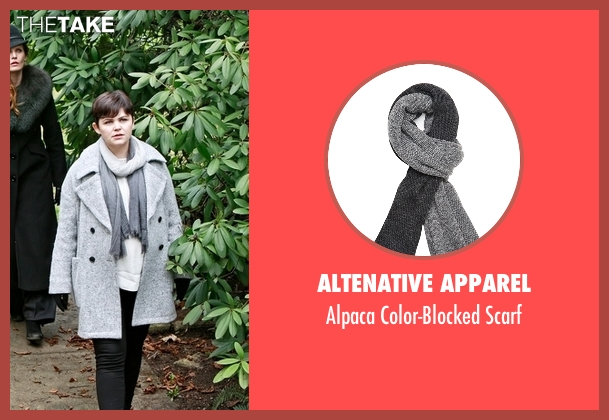 Altenative Apparel gray scarf from Once Upon a Time seen with Unknown Character (Ginnifer Goodwin)