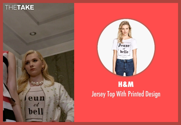 H&M white design from Scream Queens seen with Unknown Character (Abigail Breslin)