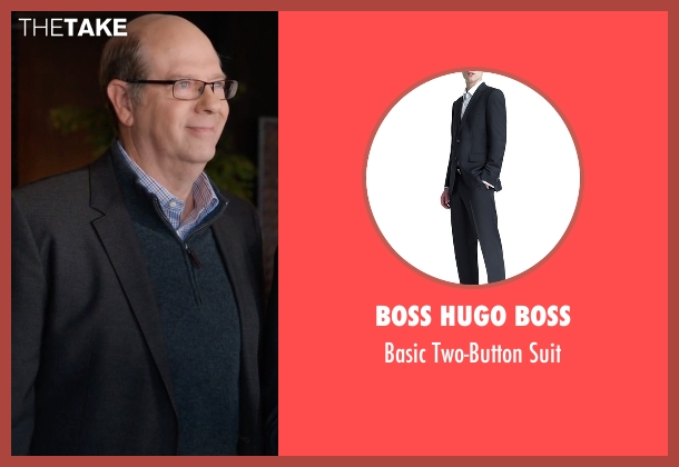 Boss Hugo Boss black suit from Silicon Valley seen with Jack Barker (Stephen Tobolowsky)
