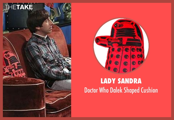 Lady Sandra cushion from The Big Bang Theory seen with Unknown Character (Unknown Actor)