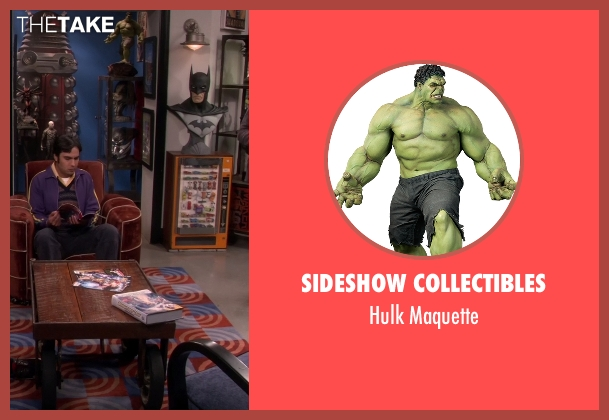 Sideshow Collectibles maquette from The Big Bang Theory seen with Unknown Character (Unknown Actor)
