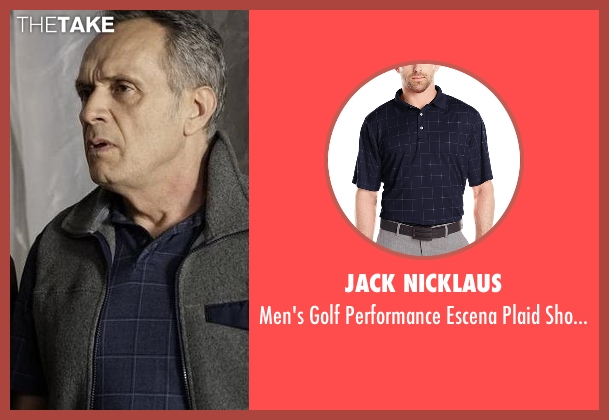 Jack Nicklaus black shirt from The Blacklist seen with Unknown Character (Simon Jutras)