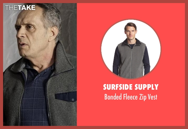 Surfside Supply gray vest from The Blacklist seen with Unknown Character (Simon Jutras)