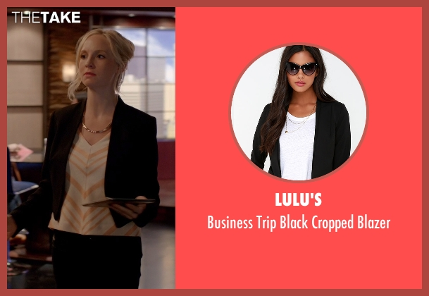 Lulu's black blazer from The Vampire Diaries seen with Unknown Character (Unknown Actor)