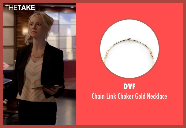 DVF gold necklace from The Vampire Diaries seen with Unknown Character (Unknown Actor)