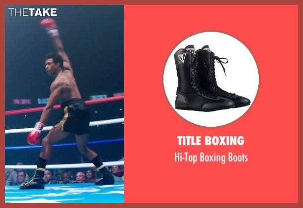 Title Boxing boots from Hands of Stone seen with Usher Raymond (Sugar Ray Leonard)
