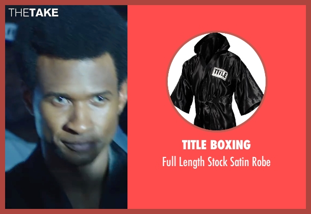 Title Boxing robe from Hands of Stone seen with Usher Raymond (Sugar Ray Leonard)