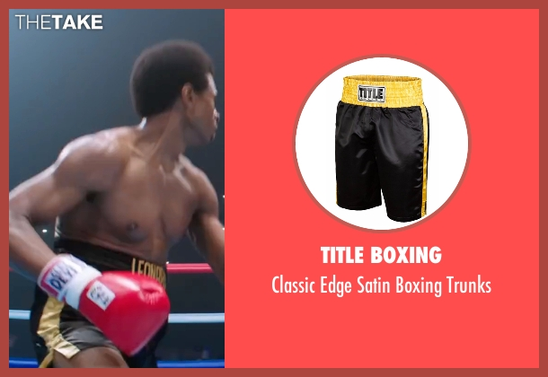 Title Boxing trunks from Hands of Stone seen with Usher Raymond (Sugar Ray Leonard)