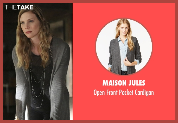 Maison Jules gray cardigan from The Vampire Diaries seen with Valerie (Elizabeth Blackmore)