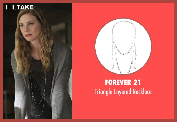 Forever 21 silver necklace from The Vampire Diaries seen with Valerie (Elizabeth Blackmore)