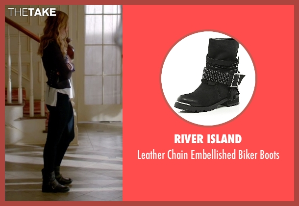 River Island black boots from The Vampire Diaries seen with Valerie Tulle  (Elizabeth Blackmore)
