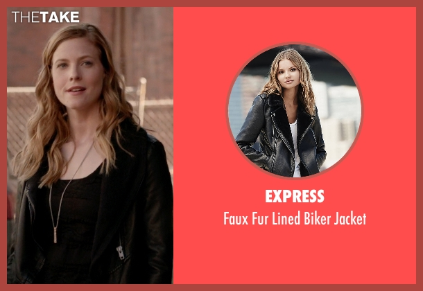 Express black jacket from The Vampire Diaries seen with Valerie Tulle  (Elizabeth Blackmore)