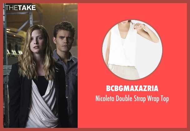 BCBGMAXAZRIA white top from The Vampire Diaries seen with Valerie Tulle  (Elizabeth Blackmore)
