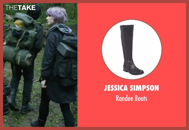 Jessica Simpson black boots from Blair Witch seen with Valorie Curry (Talia)