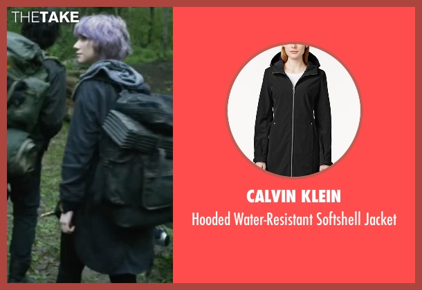 Calvin Klein black jacket from Blair Witch seen with Valorie Curry (Talia)