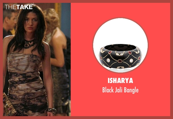 Isharya black bangle from Gossip Girl seen with Vanessa Abrams (Jessica Szohr)