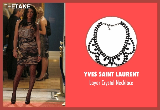 Yves Saint Laurent black necklace from Gossip Girl seen with Vanessa Abrams (Jessica Szohr)