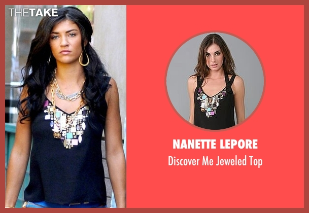 Nanette Lepore black top from Gossip Girl seen with Vanessa Abrams (Jessica Szohr)