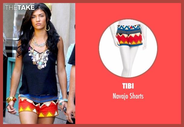 Tibi  blue shorts from Gossip Girl seen with Vanessa Abrams (Jessica Szohr)