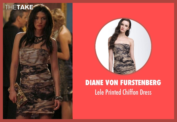 Diane Von Furstenberg brown dress from Gossip Girl seen with Vanessa Abrams (Jessica Szohr)
