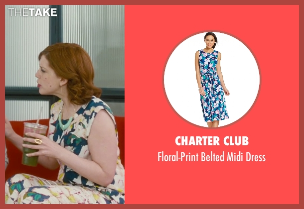 Charter Club blue dress from Trainwreck seen with Vanessa Bayer (Nikki)