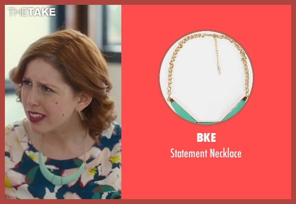 BKE blue necklace from Trainwreck seen with Vanessa Bayer (Nikki)
