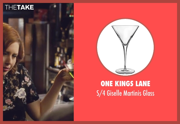 One Kings Lane glass from Trainwreck seen with Vanessa Bayer (Nikki)