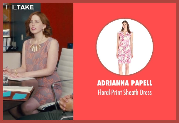 Adrianna Papell pink dress from Trainwreck seen with Vanessa Bayer (Nikki)