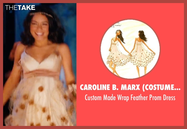 Caroline B. Marx (Costume Designer) beige dress from High School Musical 3: Senior Year seen with Vanessa Hudgens (Gabriella Montez)