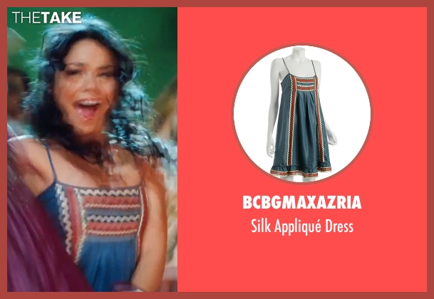 BCBGMAXAZRIA blue dress from High School Musical 3: Senior Year seen with Vanessa Hudgens (Gabriella Montez)